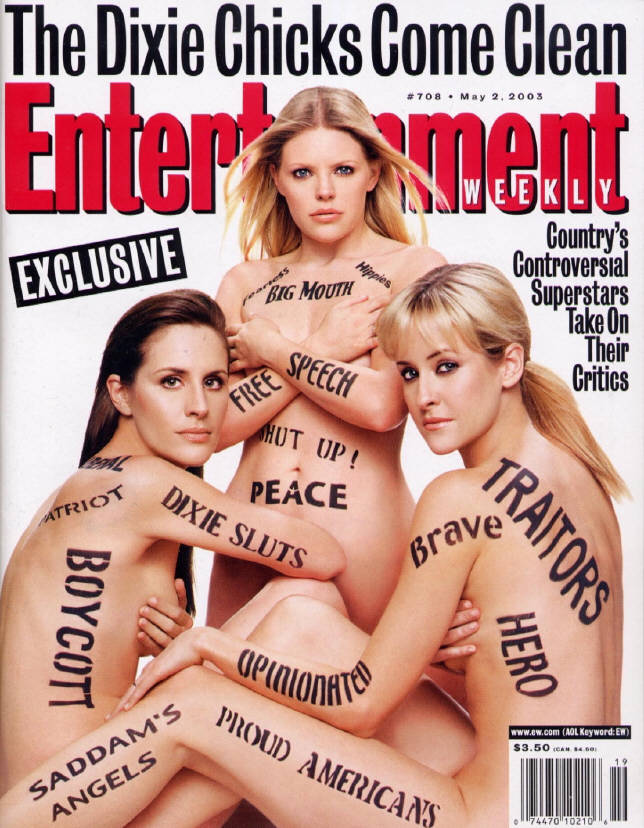 Dixie Chicks on Entertainment Weekly cover